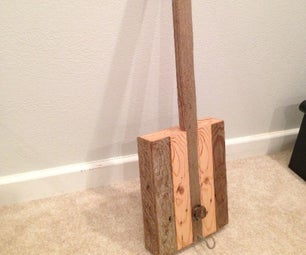 Scrap 2x4 to Diddley Bow
