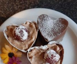 Chocolate Raspberry Hearts