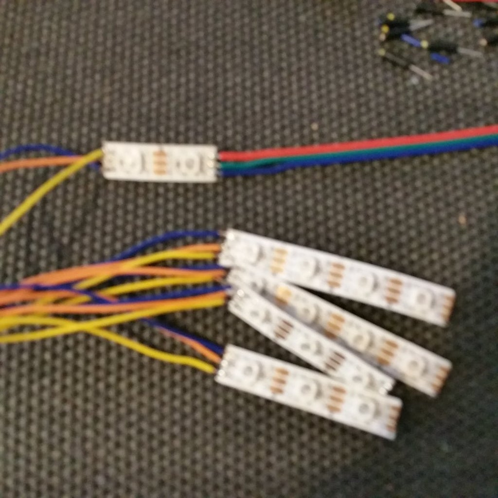 Wiring Up the LED's