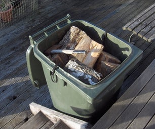 Fit an Adjustable Floor to a Wheelie Bin Firewood Container