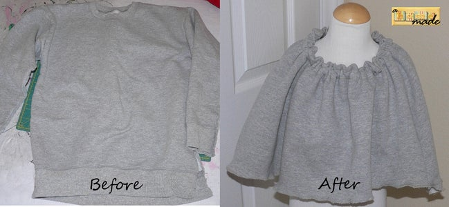 Repurposing: Sweatshirt to Poncho!