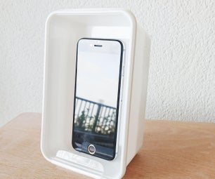 2 minutes Upcycled Takeaway Box Phone Stand