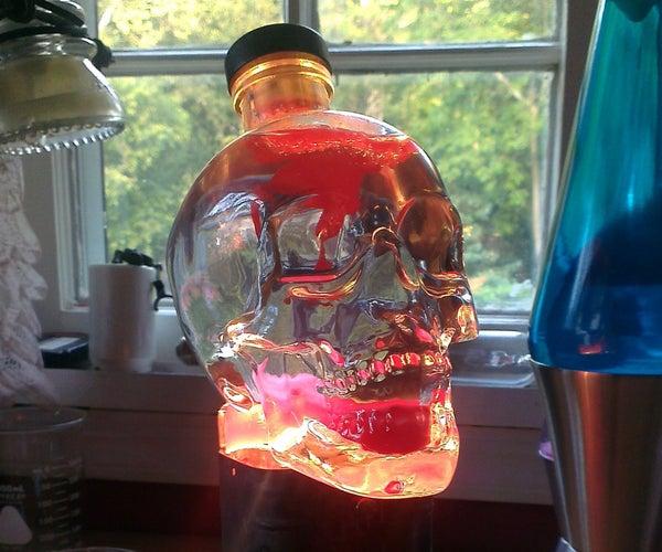 Skull Lava Light Made From Old Lantern