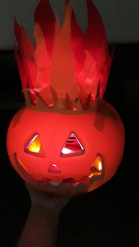 Step 9 Jack O Lantern Light/placement