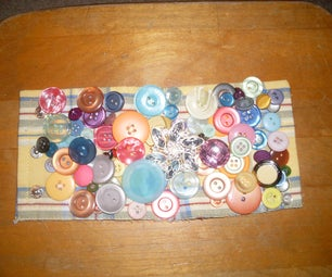 Recycled Button Cuff Bracelet