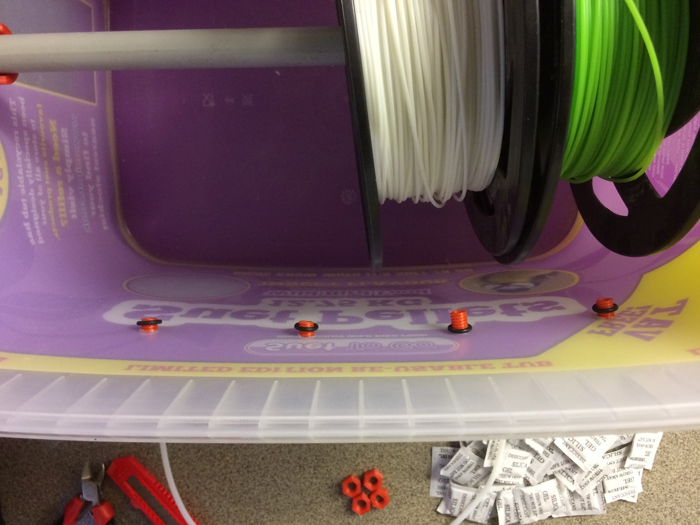 Step 6: Attach the 3d Printed Bolts & Nuts