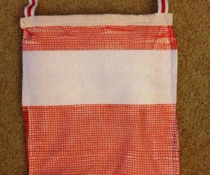 Upcycled Orange Bag