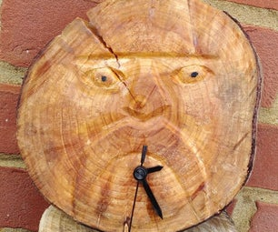 Wood Carved Clock