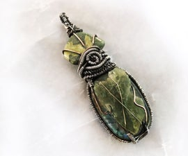 Multi-Gemstone Layered Wire Wrapped Pendant