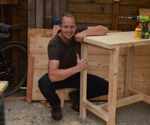 Workbench / Shoptable From Offcut CLS Timber Wood.