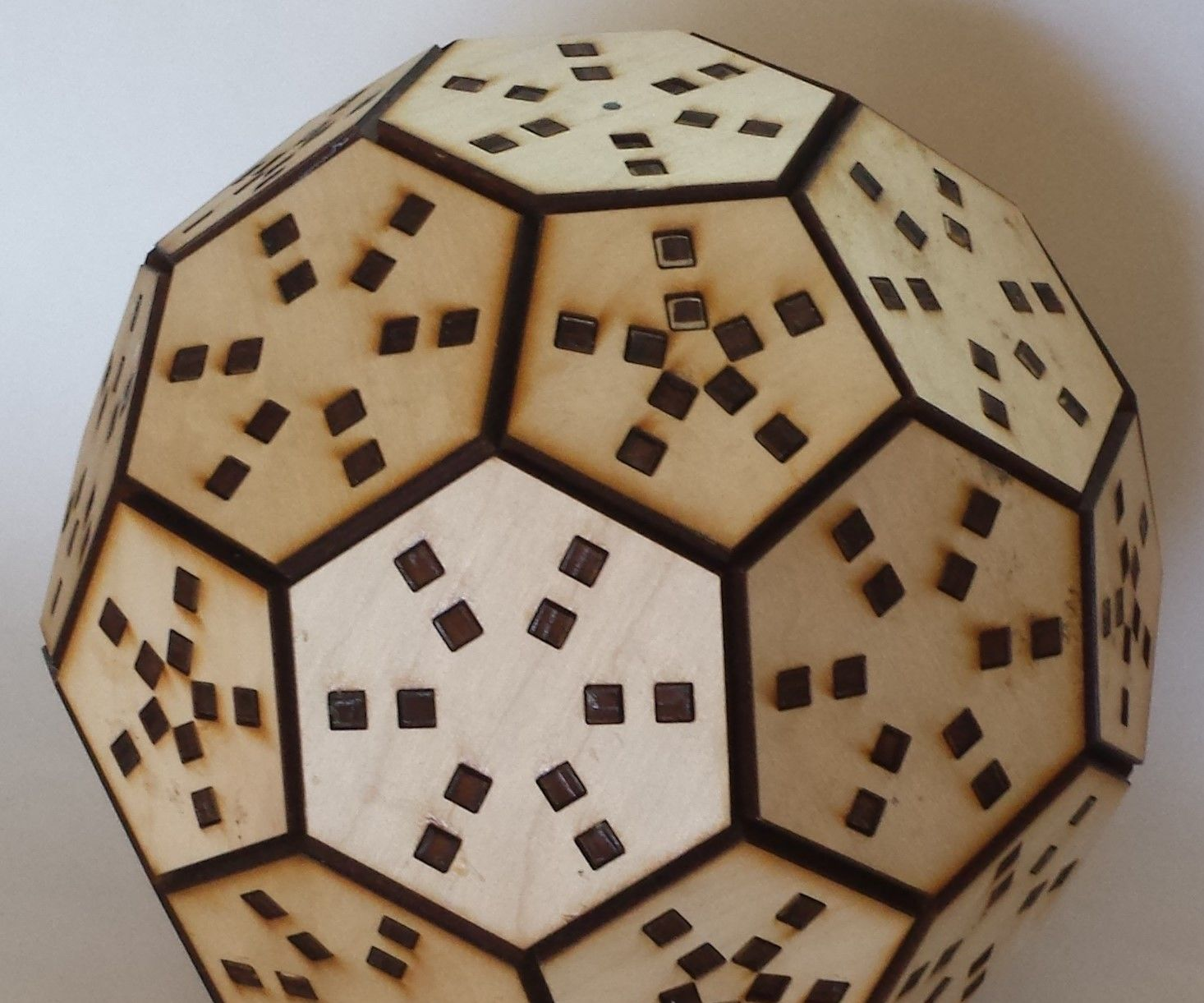 Wooden Truncated Icosahedron Puzzle