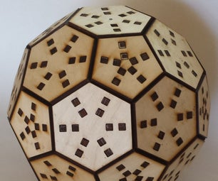 Wooden Truncated Icosahedron Puzzle