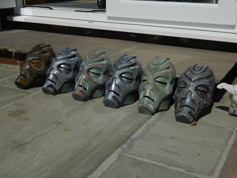 Cold Metal Casting and Patina on Skyrim Dragon Priest Masks