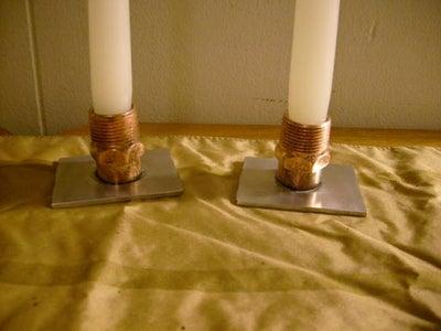 Melt Brazing - Making Candle Sticks