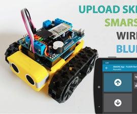 Upgrade Motor Shield for SMARS Robot Arduino - Upload Code Over Bluetooth