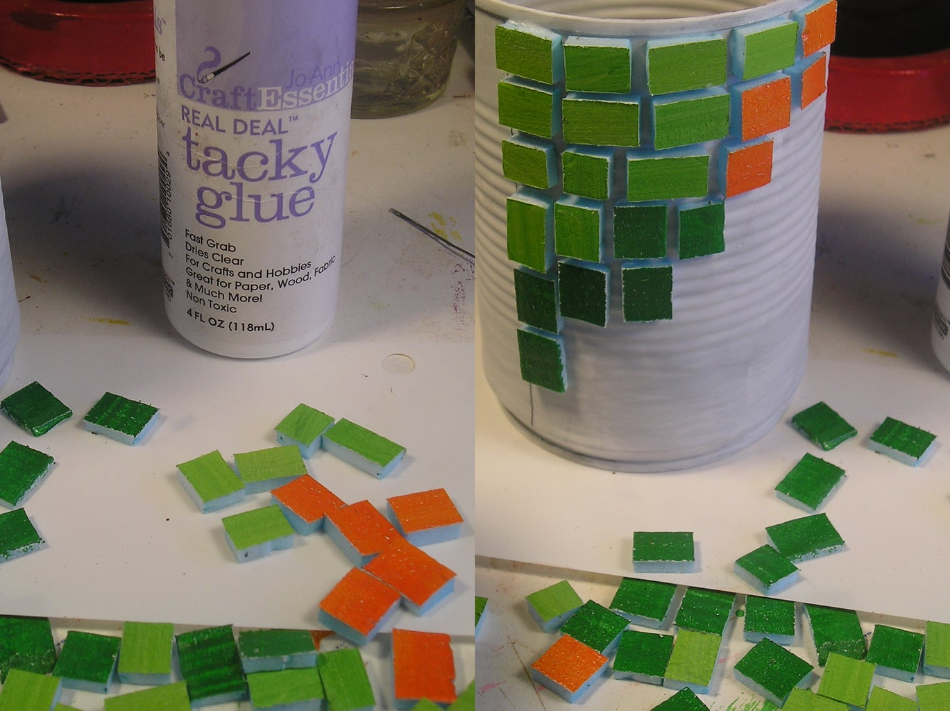 Glue Tiles or Pattern to the Can