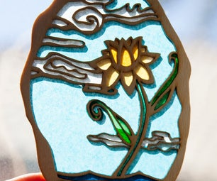 Sun-catcher With Tissue Paper and Laser-cut Frame