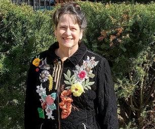 Wearable Fiber Art Embellished Jacket