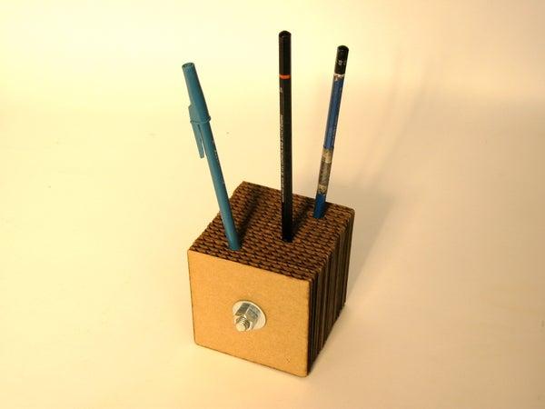 "Cardboard Pencil Holder ""Stabb-it"""