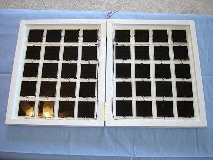 How I Built a Folding 15 Watt Solar Panel