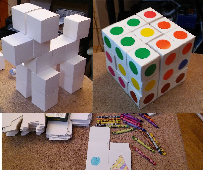 BLOKL - Cardboard Construction Cubes