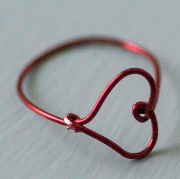 Make a Wire Heart Finger Ring