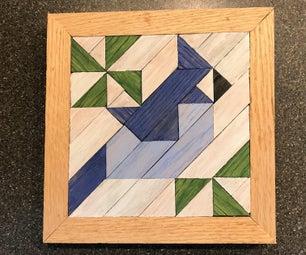 Wooden Blue Jay Barn Quilt