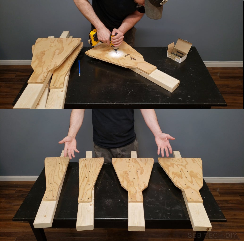 Adding the Plywood Supports