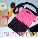 Simple Crochet T-shirt Yarn Bag