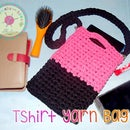 Simple Crochet T-shirt Yarn Bag