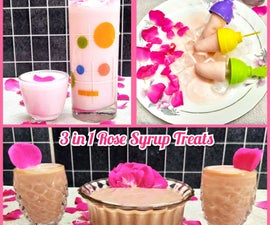 3 in 1 Rose Syrup Frozen & Chilled Treats