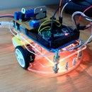 Arduino Bluetooth-Bot with Android and LED