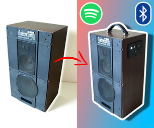 Old Speaker Conversion to Bluetooth Boombox
