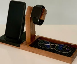 Make a Phone, Watch, and Glasses Stand With Integrated Charging