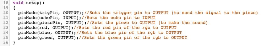 Coding 2 - Setup Method
