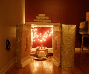 Cardboard Temple/shrine at Home.