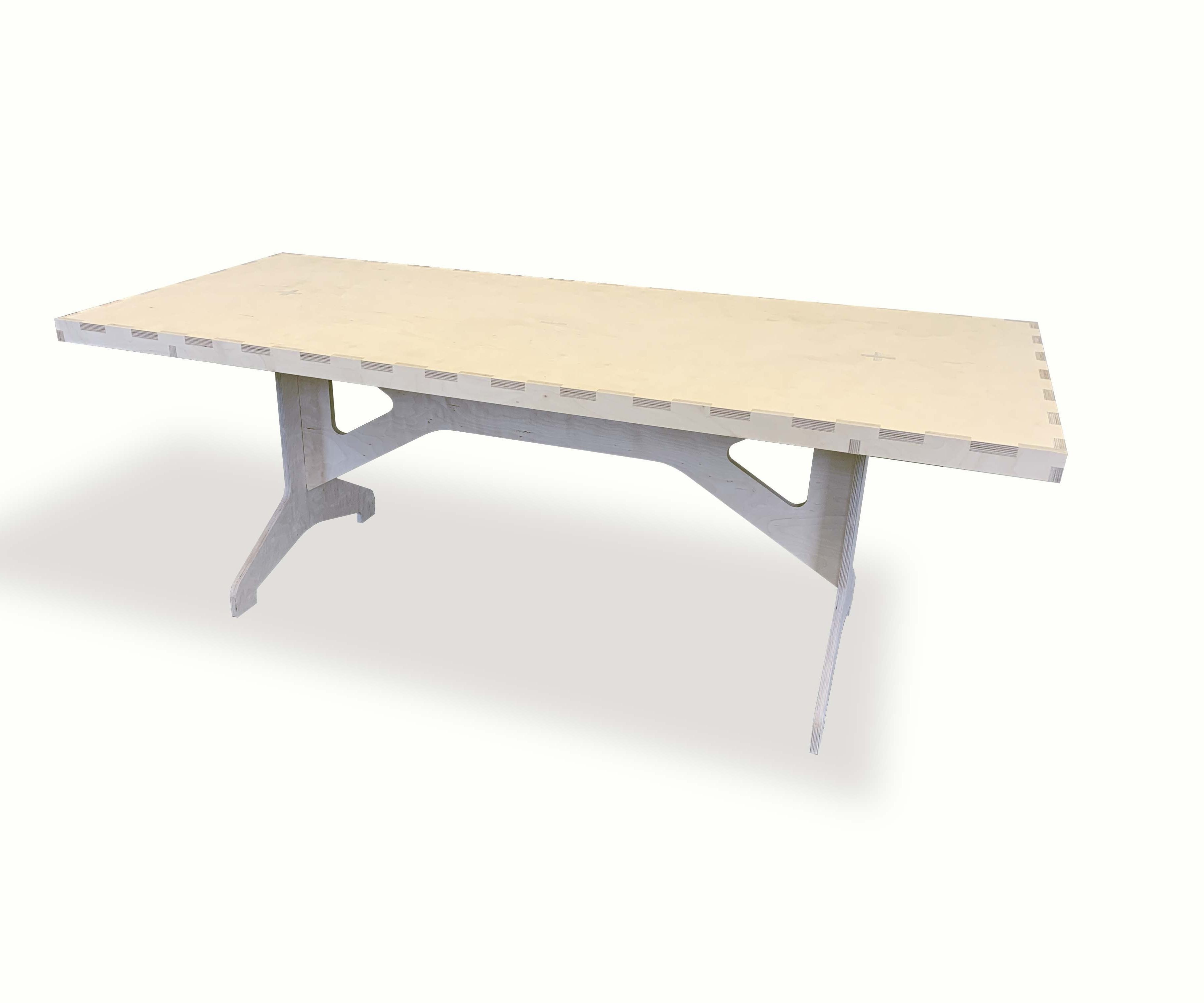 Russian Birch Table Without Fasteners