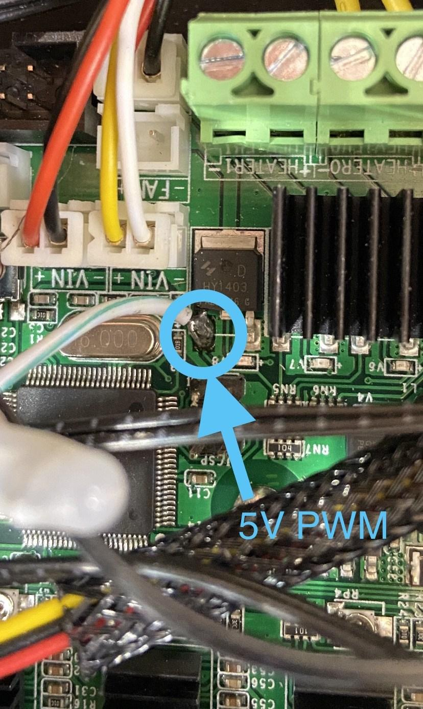 Wiring:  5V PWM/TTL Mosfet