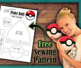 DIY Plushie Poké Ball (with Free Sewing Pattern)