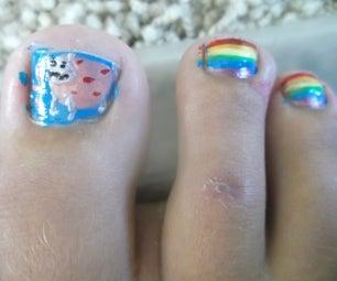 Nyan Cat Nails