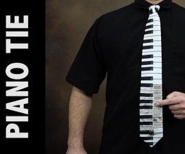 工作钢琴领带