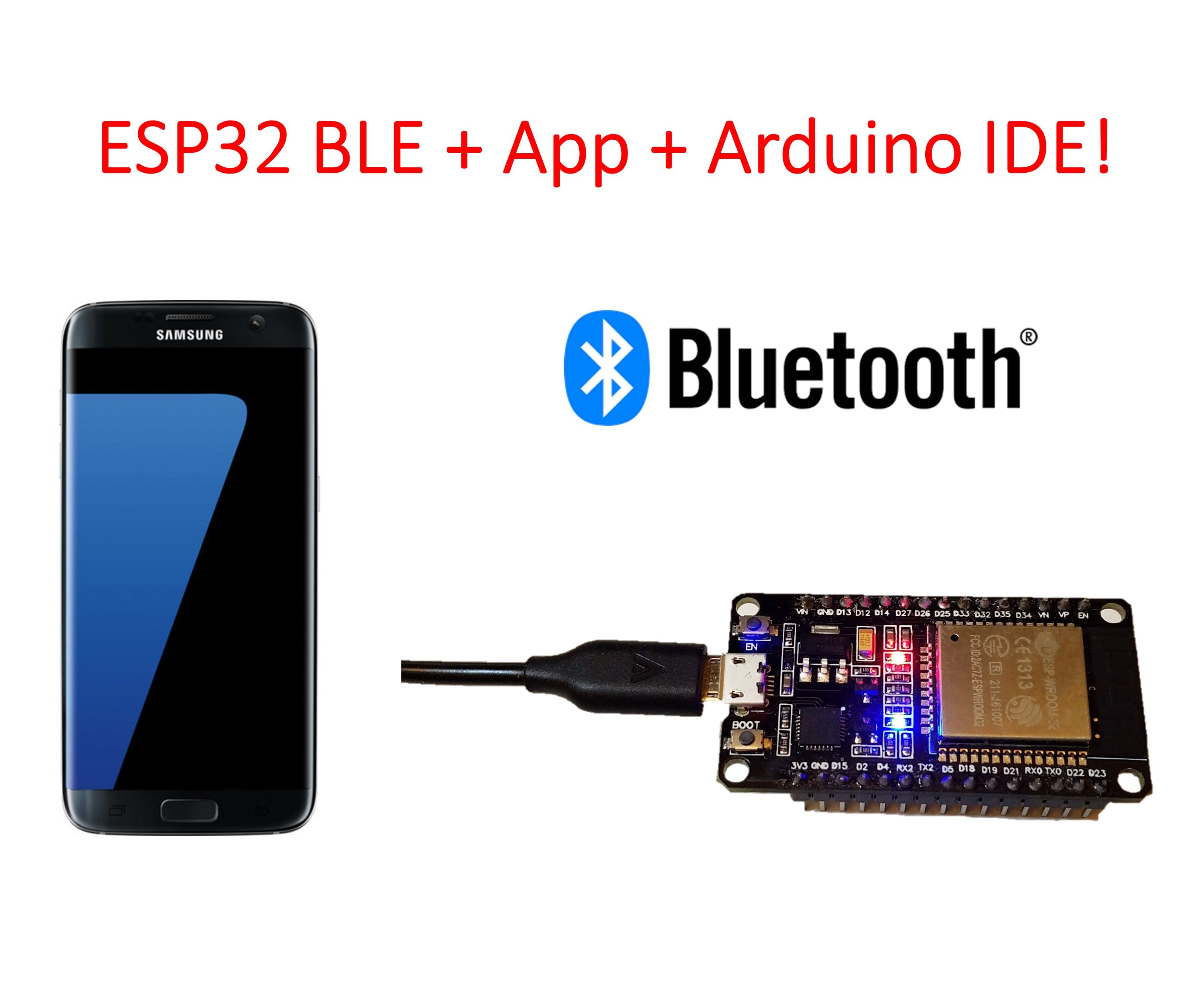 ESP32 BLE + Android App + Arduino IDE = AWESOME