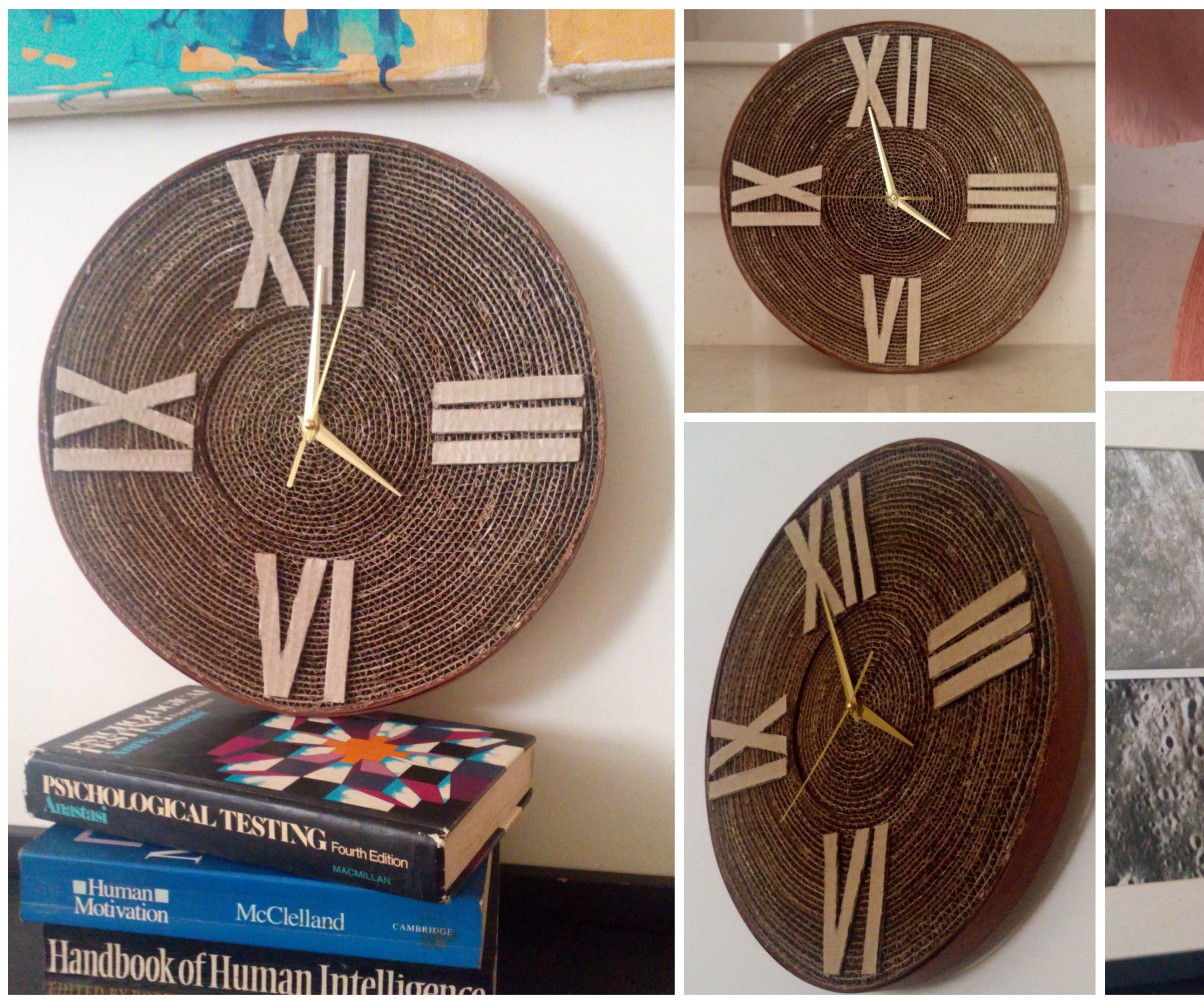 Cardboard Wall Clock
