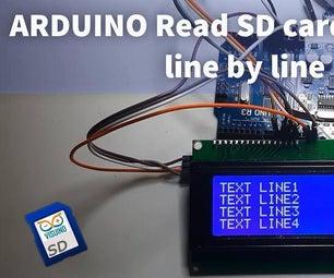Arduino  - 如何按行读取SD卡文本文件行