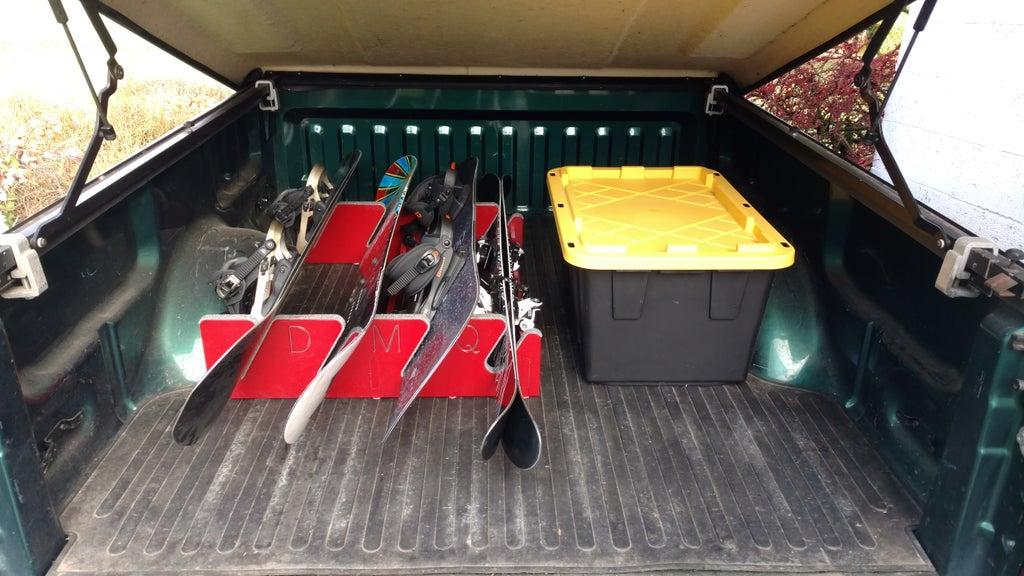 truck bed snowboard ski rack 5