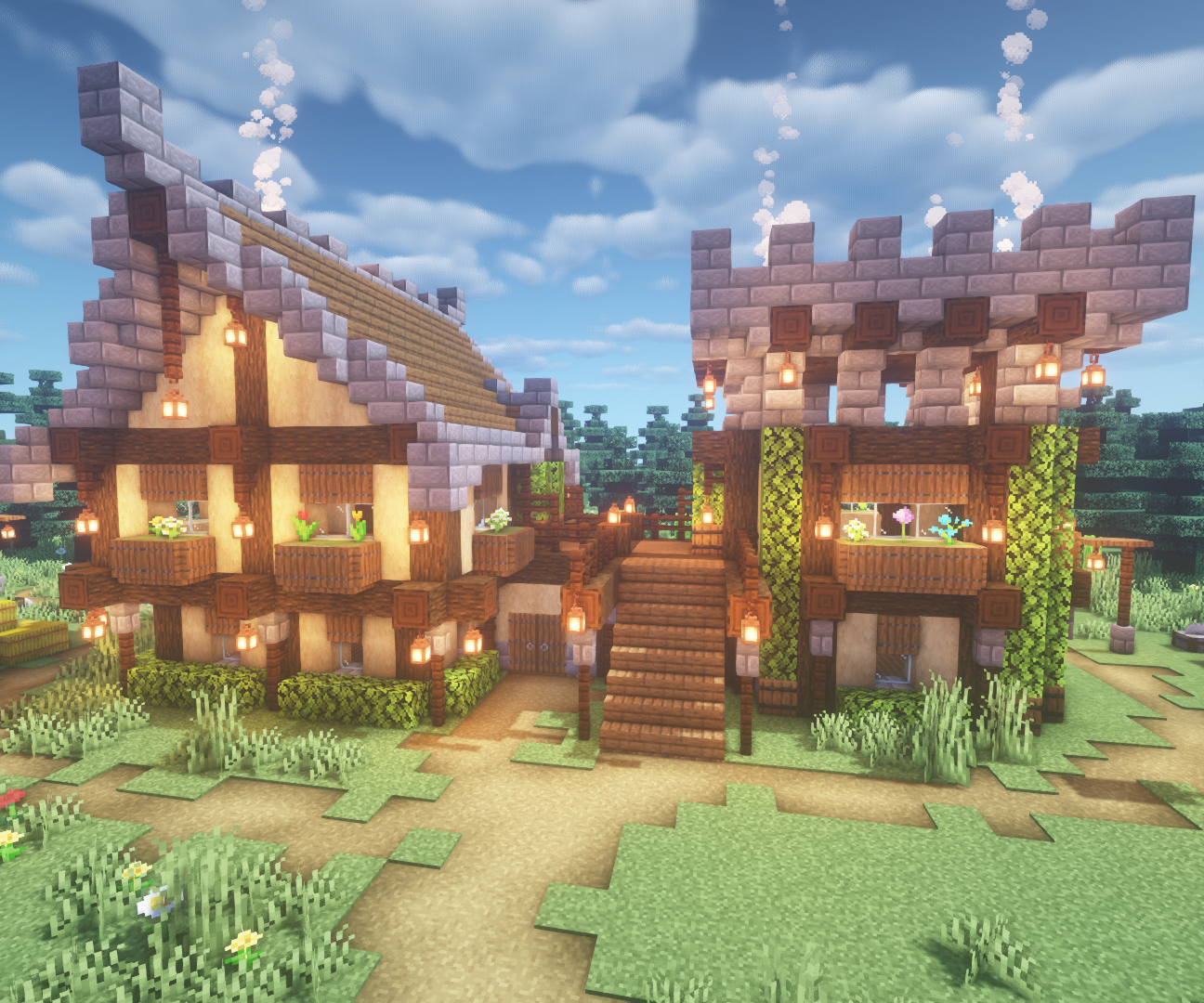 How To Build A Medieval House In Minecraft 11 Steps Instructables