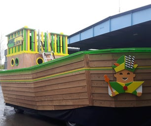 Reclaimed Wooden Boat Parade Car