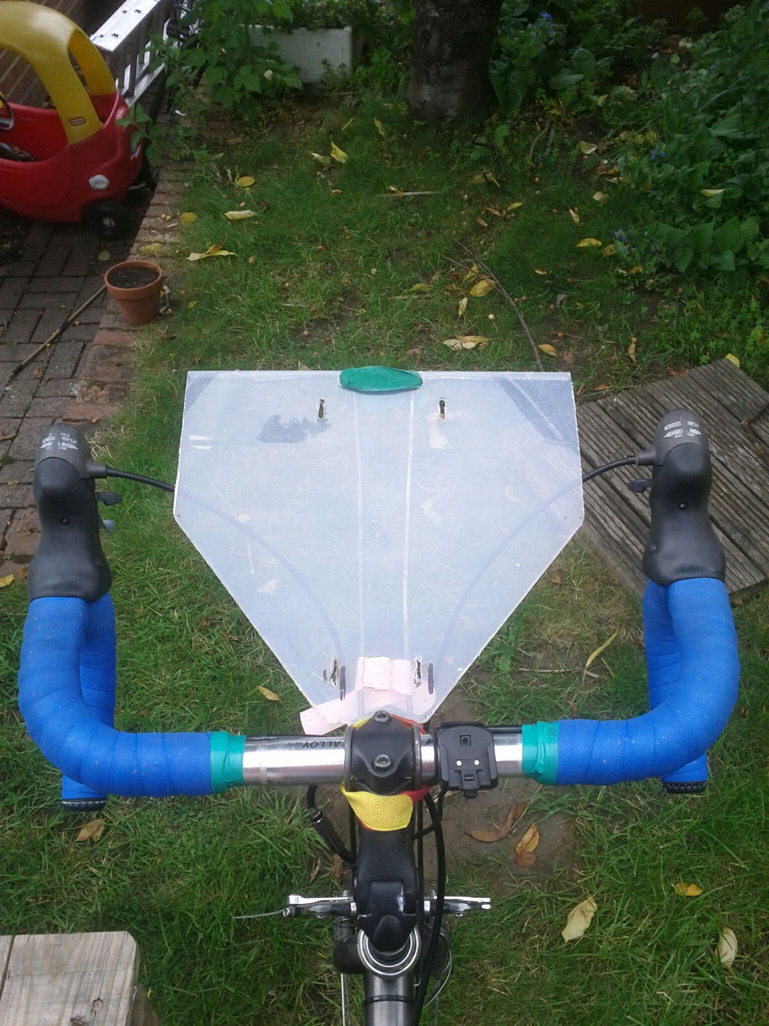 DIY bike map holder