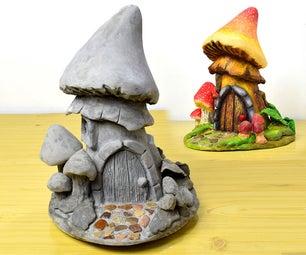 Making a Cement Mushroom Fairy House