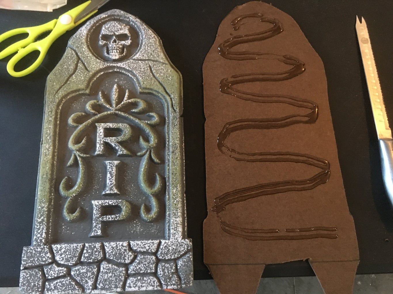 Reinforcing Your Gravestones - Glue and Press
